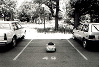 Baby car parked in parking lot